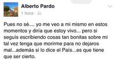 Comentario de Alberto Pardo Touceda en su Facebook.