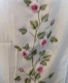 Puffy Rose Shower Curtain