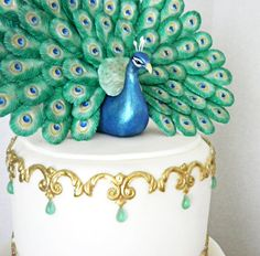 Fondant Mold for Small Peacock Tail Feather by Sugarcast on Etsy