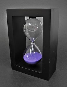 NEW Simple Design Wooden Frame 30 Minutes Hourglass Sand Timer (5 Colors) | eBay