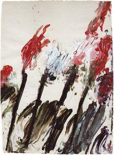 Cy Twombly, Nicola's Irises 1990