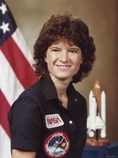 Sally Ride 1st American woman in space.