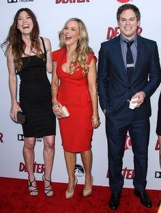 Jennifer Carpenter, Julie Benz and Michael C Hall from Dexter
