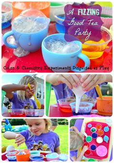 A Fizzing Good Tea Party: Color & Chemistry Experiments Disguised as Play - In Lieu of Preschool
