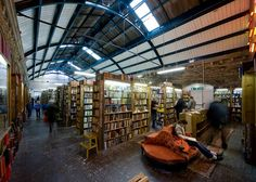 Need.To.Go.Camp.There. Barter Books, second hand bookstore in the old  Alnwick Train Station, Northumberland, UK.