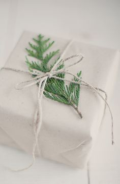 simple wrapping with pine cutting