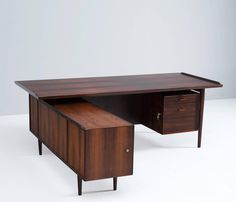Arne Vodder Large Rosewood Executive Desk | From a unique collection of antique and modern desks and writing tables at https://www.1stdibs.com/furniture/tables/desks-writing-tables/