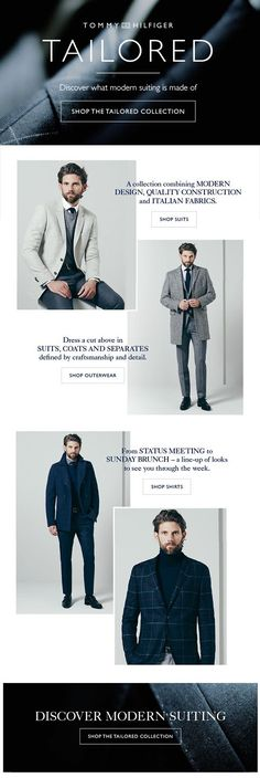 Tommy Tailored Suit Collections Eco Newsletter