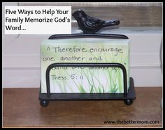 Five Ways to Help Your Family Memorize God's Word