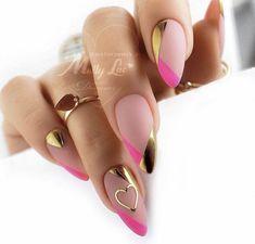 Chic Nails, Classy Nails, Stylish Nails, Trendy Nails, Swag Nails, Bling Acrylic Nails, Best Acrylic Nails, Acrylic Nail Designs, Pink Nails