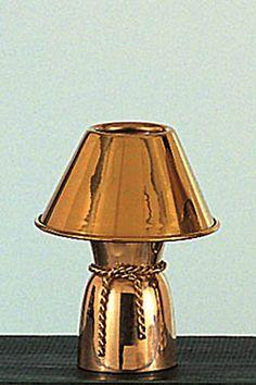 Brass Mini Lamp with Brass Shade