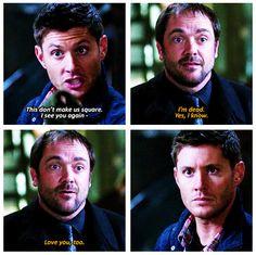 Supernatural. Crowley and Dean
