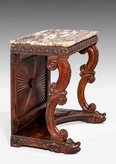 ~ Pair of Regency Rosewood Pier Tables ~  windsorhouseantiques