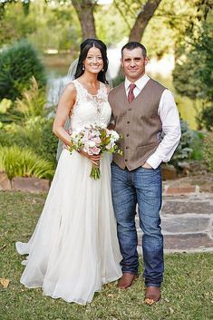 Blue jeans boots and vests with no tie the flower girls and ring image result for rustic wedding attire for men junglespirit Images