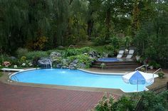 Inground pools photos backyard oasis pinterest decks patio and seating areas Northeastern swimming pool distributors inc