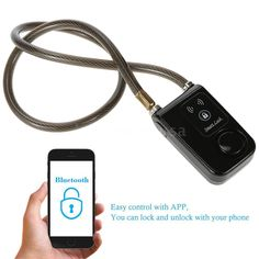 Smart Lock with Bluetooth Chain for Motorcycle Bike Security Alarm Keyless Z8A2