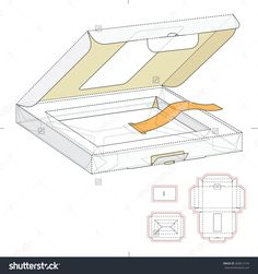 Retail Box With Window And Die Cut Template Stock Vector Illustration 368812154 : Shutterstock