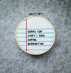 Sorry, cross stitch, notebook, ruled paper Geek Cross Stitch, Cross Stitch Charts, Cross Stitch Designs, Funny Embroidery, Embroidery Patterns, Subversive Cross Stitches, Funny Cross Stitches, Funny Cross Stitch Patterns, Cross Stitching