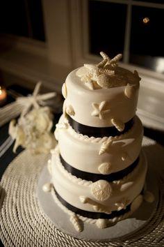 sea shells on Cake