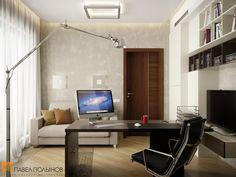 Дизайн кабинета со столом и диваном / Home office / home office ideas / home office decor / #design #interior #homedecor #interiordesign