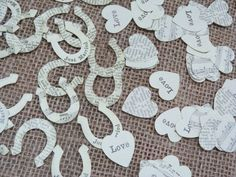 East of India Wedding Table Confetti Decoration Hearts Horseshoes Shabby Chic   eBay