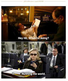 Hillary texts!