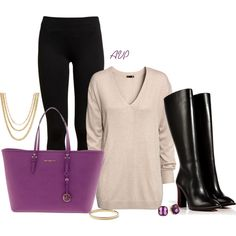 """Black Boots and Leggings"" by amy-phelps on Polyvore"