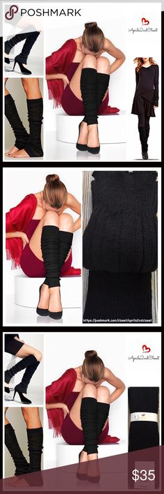 ⭐️⭐️ LUXURIOUS ITALIAN LEG WARMERS BOOT COVERS LUXURIOUS ITALIAN LEG WARMERS TALL BOOT COVERS  COLOR-BLACK   DETAILS- * Super soft & cozy chunky knit construction * High quality & well made * Designed to wear alone or for layering * Stretch-to-fit over most legs and/or boots * One size fits many; Stay up style * Ribbed texture * Wear slouchy or over the knee/thigh high   FABRIC Viscose, Angora, polyamide, 2% spandex   - NO TRADES - BUNDLE DISCOUNTS - OFFERS CONSIDERED  SEARCH # sweater…