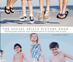 A book that makes it easy to teach appropriate social behaviors. Click to learn more. http://www.therapyinabin.com/products/social-skills-picture-book-teaching-play-emotion-communication-children-autism/