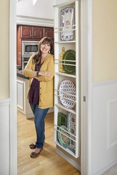 """Hi there! I'm Vanessa from the blog At the Picket Fence,and I'm so thrilled to be here with you today sharing my DIY Plate Rack, which is featured in the """"I Did It!"""" section of this month's issue of Better Homes and Gardens. I'm still pinching myself that a simple afternoon project for my kitchen [...]"""