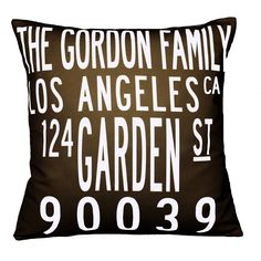 Custom City Pillow - great gift!  So cute for housewarming.