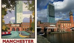 Northern locations get vintage rail poster makeover - BBC News