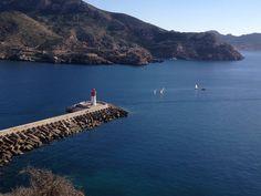 No me canso de ver fotos del *Faro Rojo*, todas me parecen preciosas. CARTAGENA. Spain