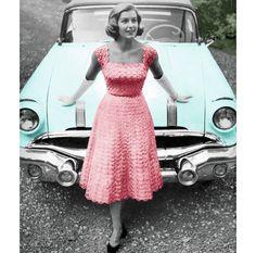 Vintage Crochet Pattern 1950s Lacy Evening Dress par 2ndlookvintage, $3.50
