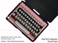Pink+Typewriter+iPad+Air+case+ipad+case+ipad+air+by+familycase,+$35.99