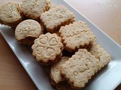Orechovo-karamelové sušienky (fotorecept) - Recept Sweet Recipes, Food And Drink, Cookies, Cake, Desserts, Kitchen, Basket, Crack Crackers, Tailgate Desserts