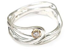 Seagrass Diamond & Silver Ring, Bands from One Kings Lane