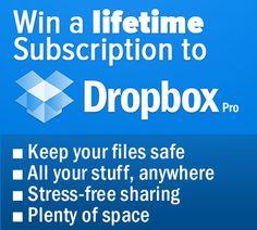 Win a Lifetime Dropbox Pro Subscription