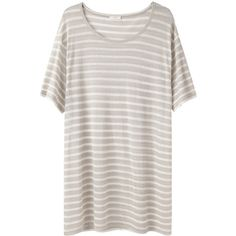 6397 Striped Boring Tee (€80) ❤ liked on Polyvore featuring tops, t-shirts, dresses, shirts, relax t shirt, stripe tee, round neck t shirt, stripe t shirt and striped t shirt