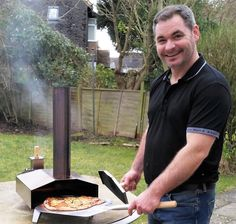 Our founder, Stephen, is a luxury #kitchen designer by day, and a #pizzaiola by #night, thanks to his new #pizzaoven!