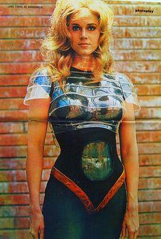 Jane Fonda, from Photoplay, 1968 Source: Pulp International- Fashionista and Peace Ambassador Barbarella! Jane Fonda Barbarella, Science Fiction, Romain Gary, 90s Fashion, Womens Fashion, Space Girl, Star Wars, Looks Style, Sophia Loren