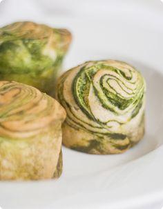 Matcha green tea marble brioches