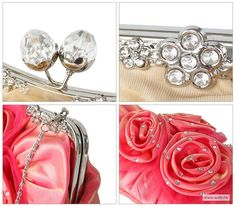 wedding pictures Fashionable Acrylic Rhinestone Floral Small Cross-Body Bags, Single Deck $22.99