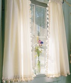 classic ball fringe curtains...my grandmother had these on all of her farmhouse windows <3