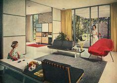 1957 Better Homes & Gardens | Five Star Home #2710 | Architect: William R. Jenkins, Houston  Via