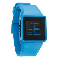Nixon | Montre bleu ciel | http://www.rienasemettre.fr/shopping-list/montre-digitale-newton-bleu-ciel-nixon/