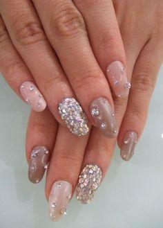 encrusted nails #nails