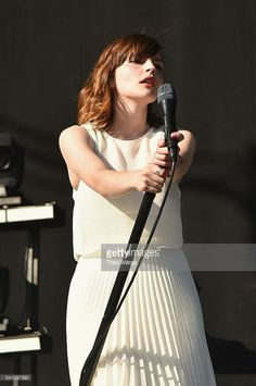 Recording artist Lauren Mayberry of Chvrches performs onstage at Firefly Music Festival on June 18, 2016 in Dover, Delaware.