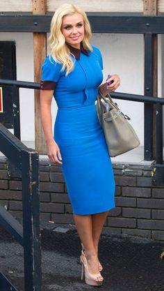 Katherine Jenkins in Victoria Beckham dress