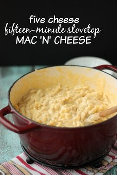 5 Cheese Stovetop Mac and Cheese | Crumbs and Chaos